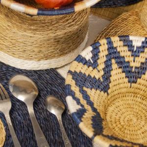 décoration de table avec une panière lavumisa marina set de table