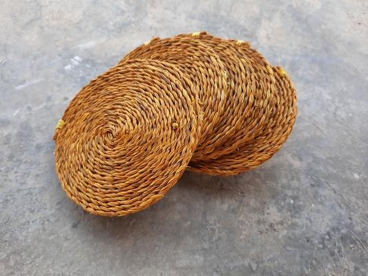 set de 6 dessous-de-verre en fibre naturelle