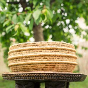 panier Gogo pot rond tissé main en fibre naturelle