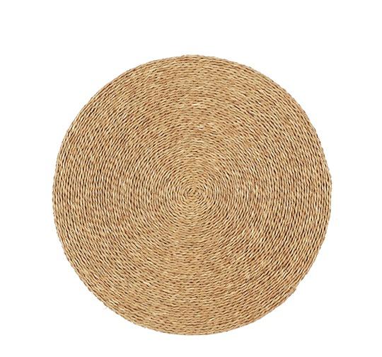 Tapis rond en fibre naturelle tressée