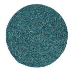 Set de table rond en fibre naturelle tressée