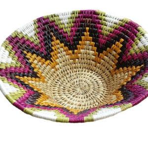 panière ronde fait main en fibre naturelle