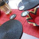 décoration de table avec une panière lavumisa tango des sets et chemin de table