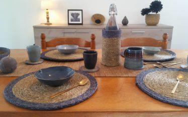 décoration de table avec des sets, chemin de table