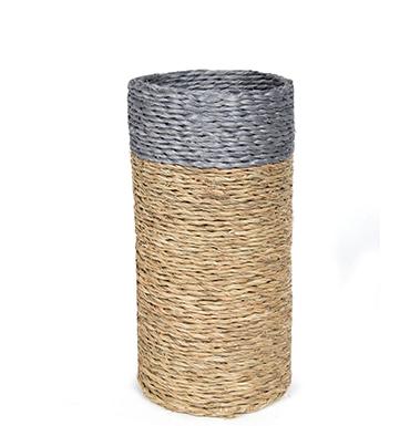 porte-bouteille en fibre naturelle fait main