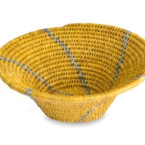 panière ronde en fibre naturelle