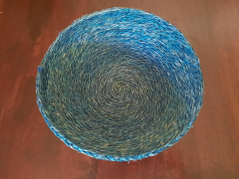 panière braided ronde faite main